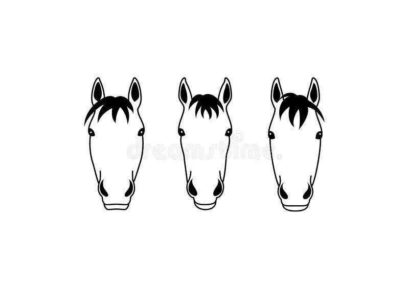 马头小组设计 皇族释放例证