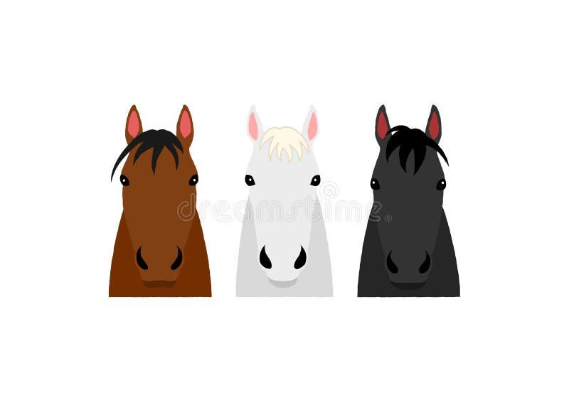 马头小组设计 免版税库存照片