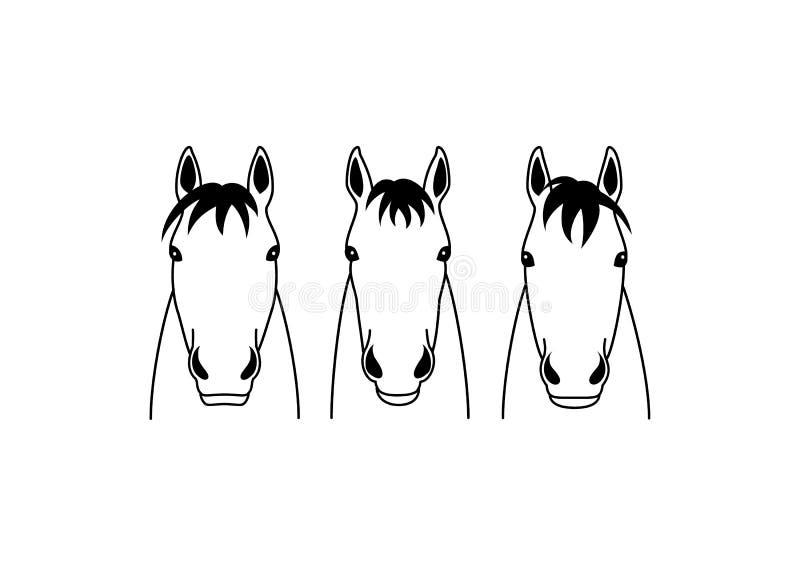 马头小组设计 库存例证