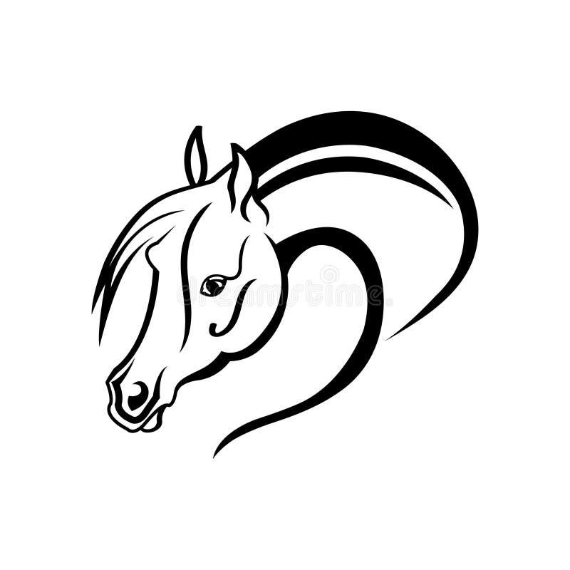 马头的剪影图画 向量例证