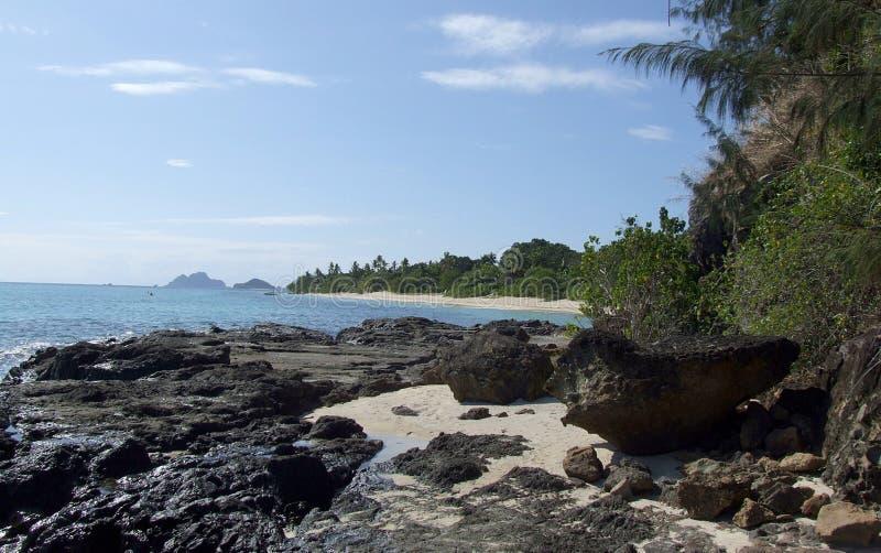 马娜海岛,斐济海岸  免版税库存照片