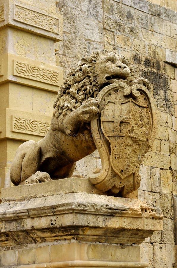 马尔他的狮子 免版税库存图片
