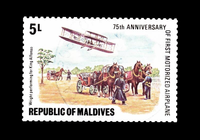 马尔代夫打印的邮票 免版税库存图片