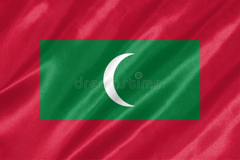 马尔代夫旗子 免版税库存照片
