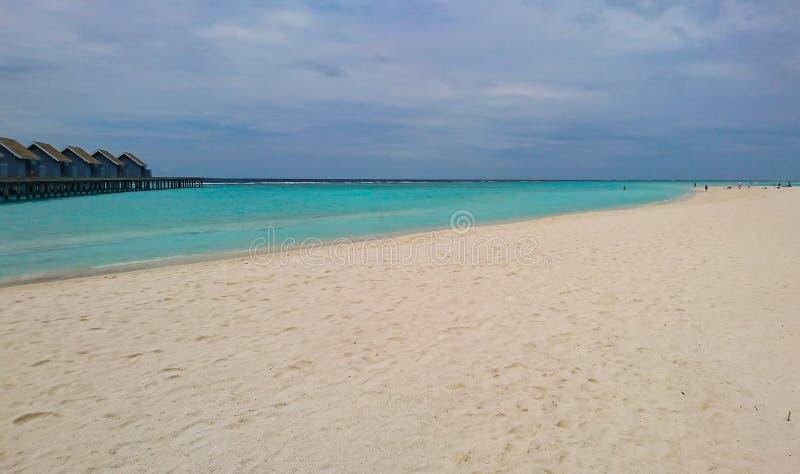 马尔代夫海岛令人惊讶的看法  库存图片