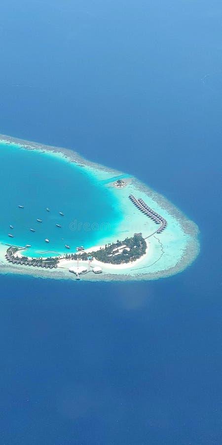 马尔代夫海岛 免版税图库摄影