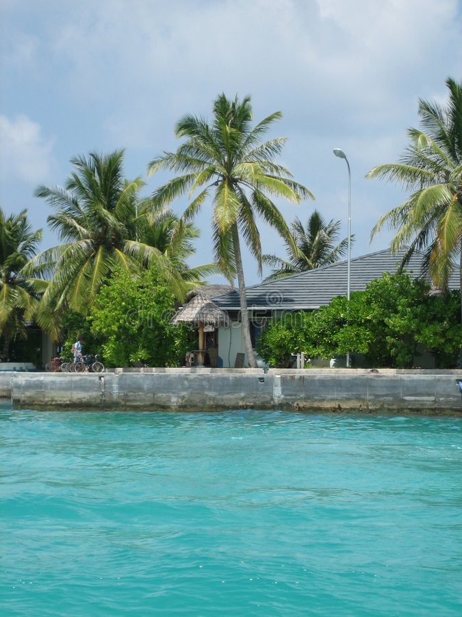 马尔代夫海运 免版税图库摄影