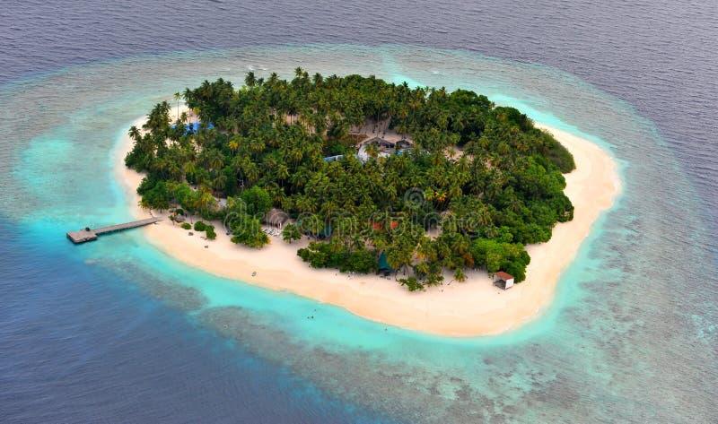 马尔代夫环礁 库存照片