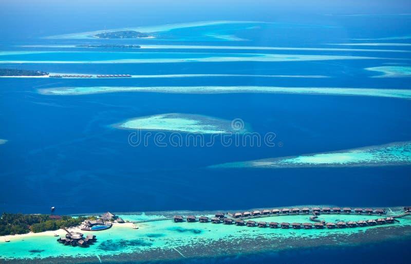 马尔代夫的环礁 库存照片