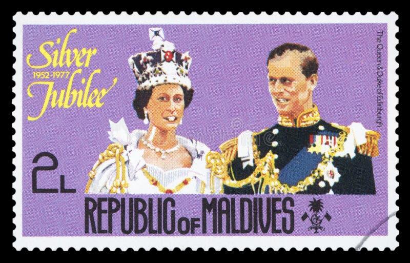 马尔代夫-邮票 库存图片