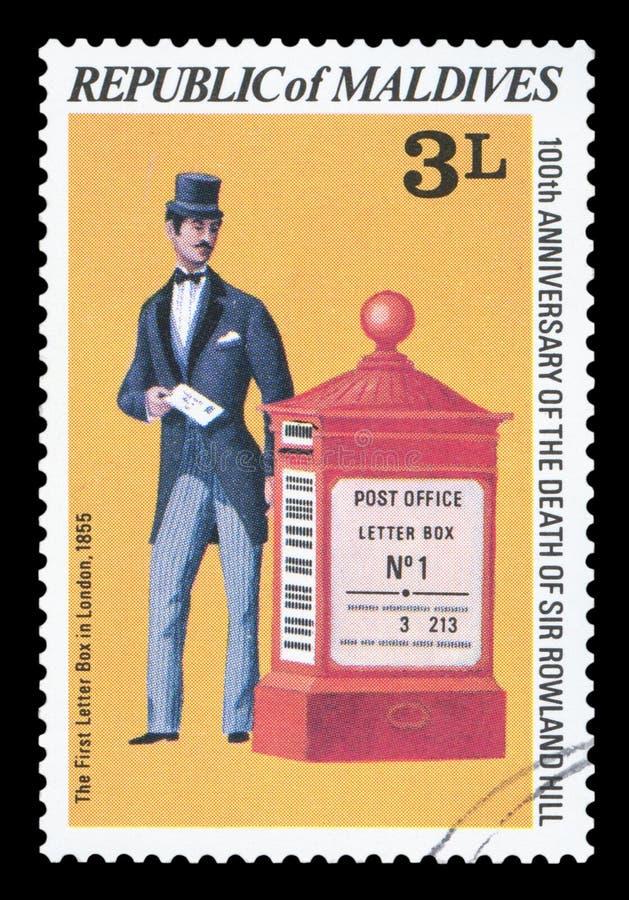 马尔代夫-邮票 库存照片