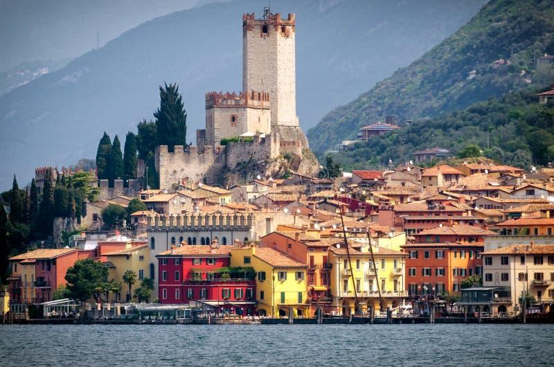 马尔切西内Lago di加尔达 免版税库存图片