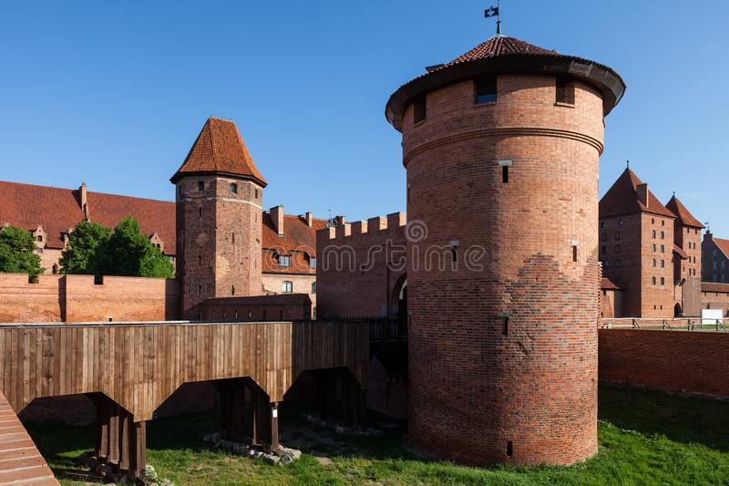 马尔堡城堡在波兰 免版税库存图片
