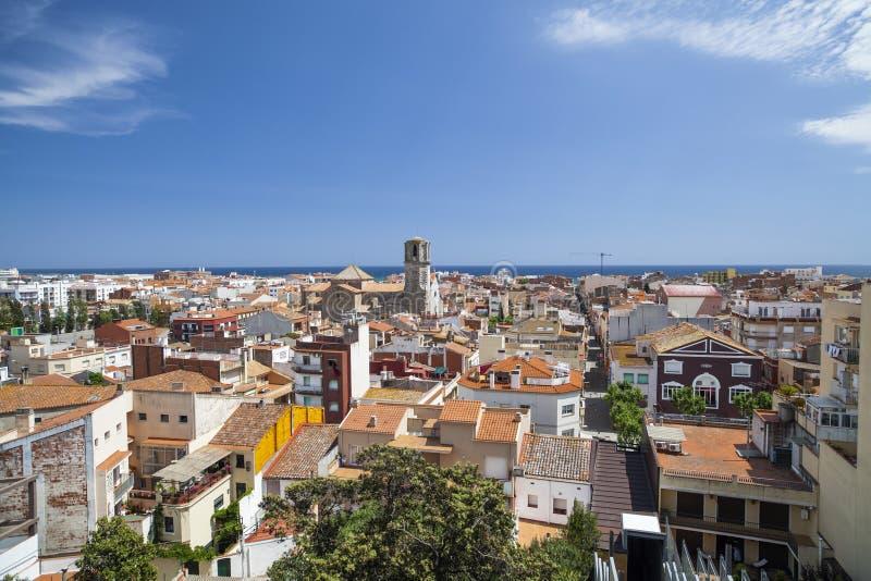 马尔格拉特德马尔,卡塔龙尼亚,西班牙 免版税库存图片