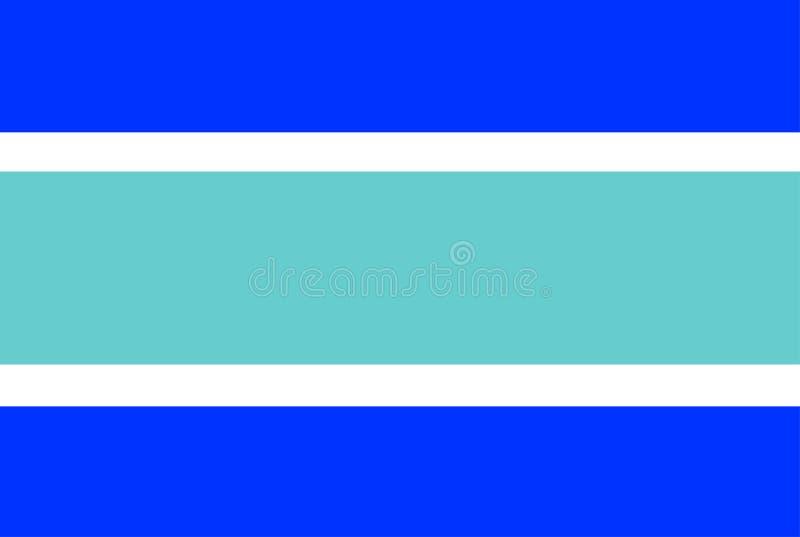 马尔韦利亚市旗子 库存例证