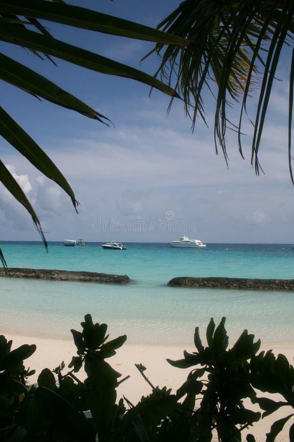 马尔代夫构筑了 免版税库存图片