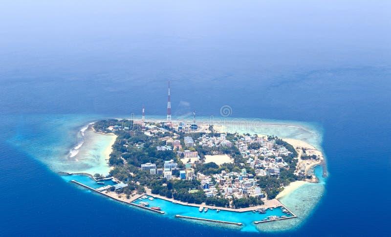 马尔代夫的环礁 免版税库存图片