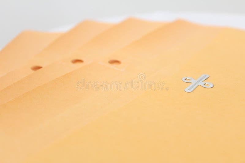 马尼拉信封文件夹 免版税库存照片