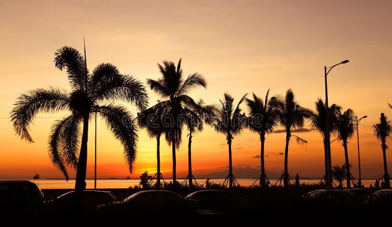 马尼拉海湾 免版税图库摄影