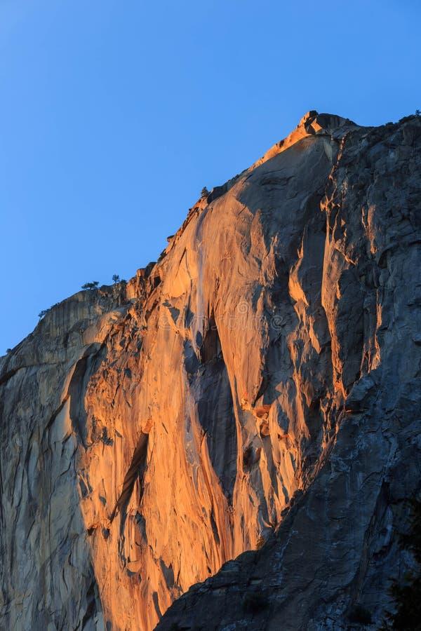 马尾瀑布,优胜美地国家公园,加利福尼亚,美国 库存图片