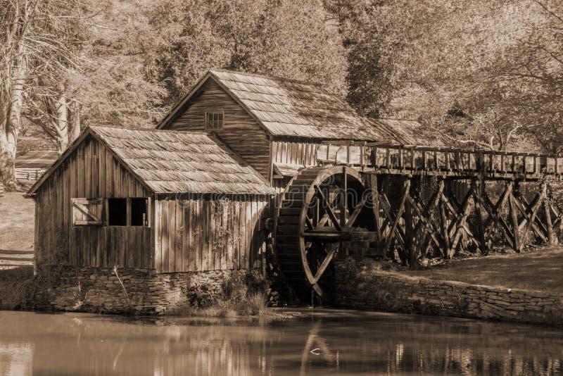 马布里磨房,弗吉尼亚,美国 库存图片