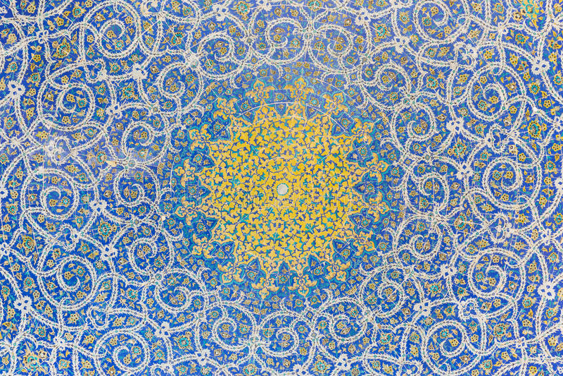 马德拉斯ye察哈尔省Bagh,在伊斯法罕,伊朗 库存照片