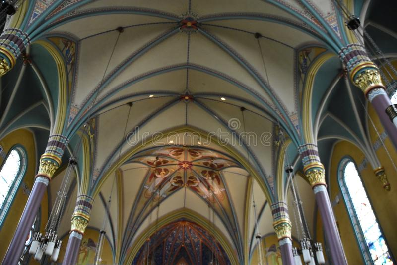 马德琳的大教堂在盐湖城 免版税库存图片