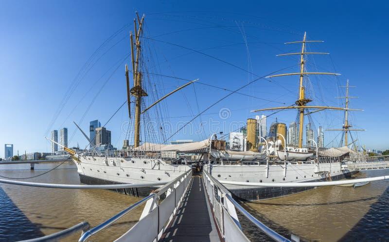 马德罗港区在布宜诺斯艾利斯,阿根廷 库存照片