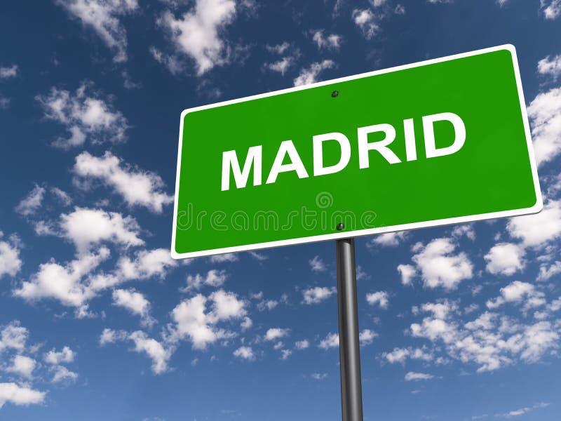 马德里交通标志 库存例证