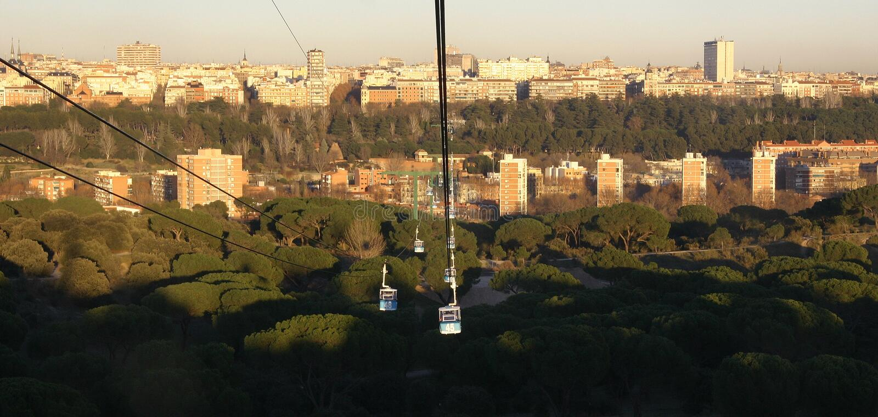 马德里地平线 免版税库存照片