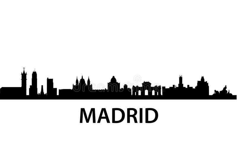马德里地平线 皇族释放例证