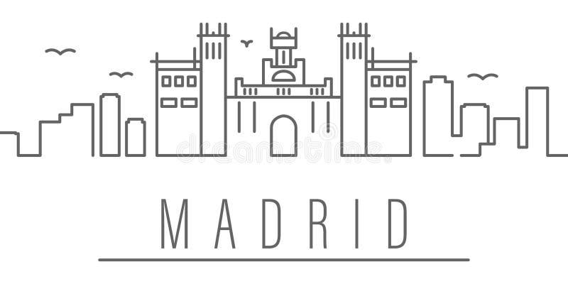 马德里市概述象 r r 皇族释放例证
