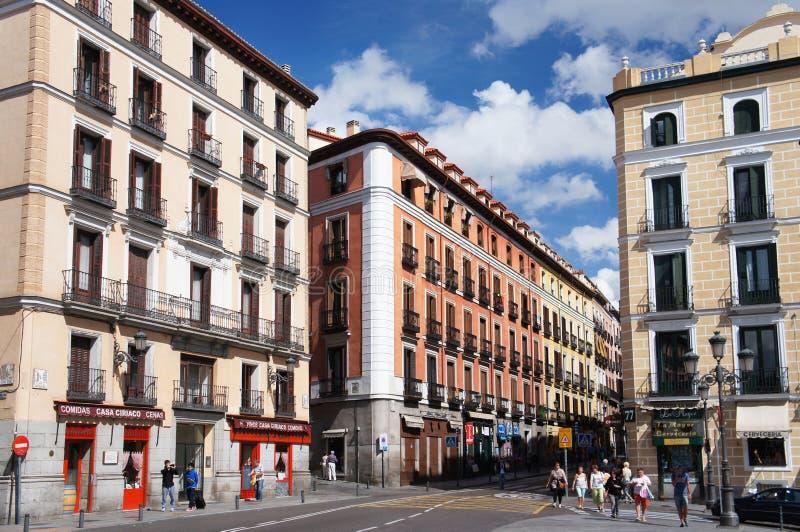 马德里市长街道  库存照片