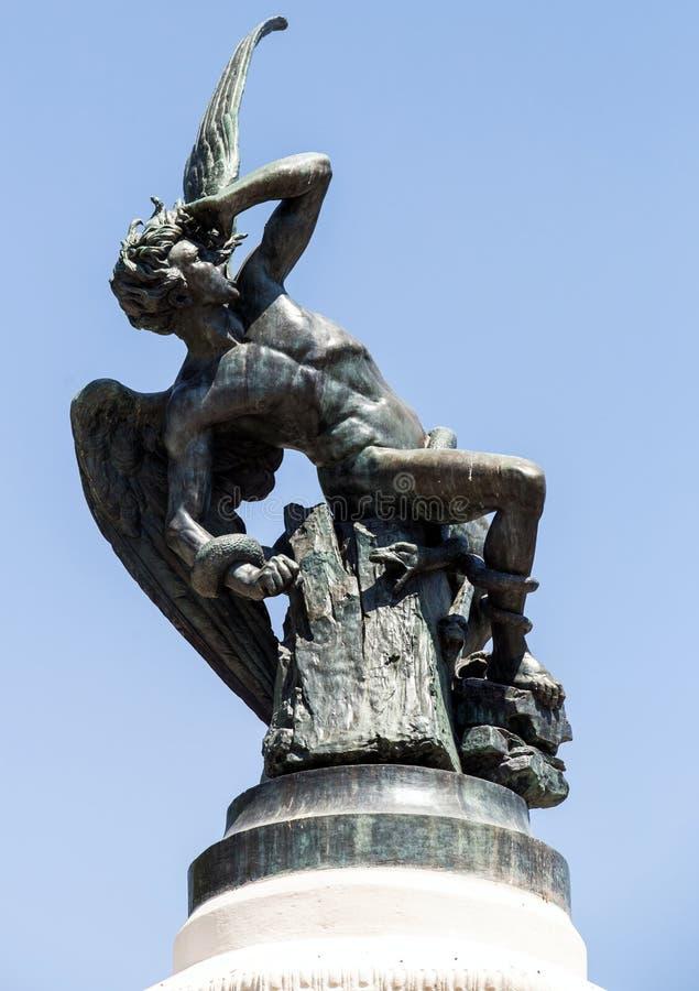 马德里的纪念碑 观光西班牙 在欧洲附近的旅行 免版税库存照片