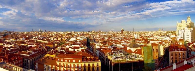 马德里鸟瞰图  图库摄影