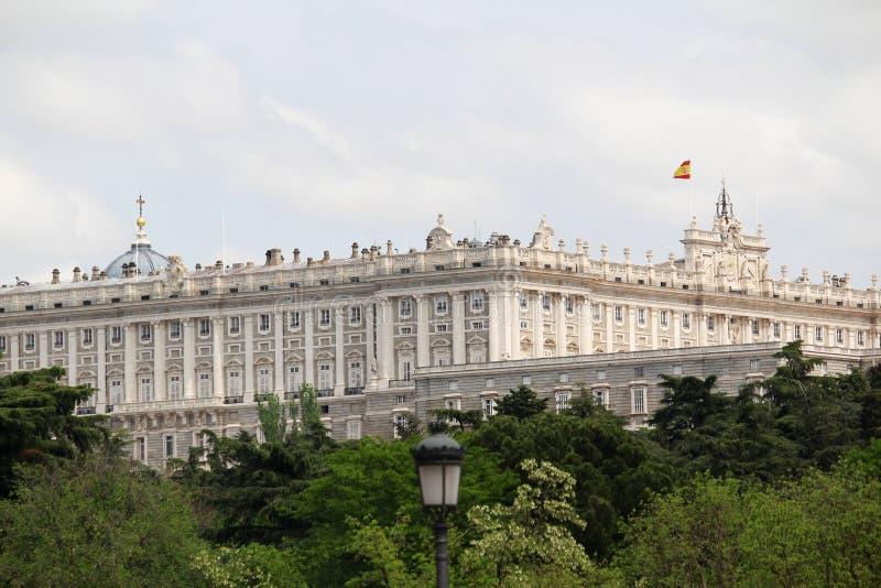 马德里,西班牙王宫  库存照片