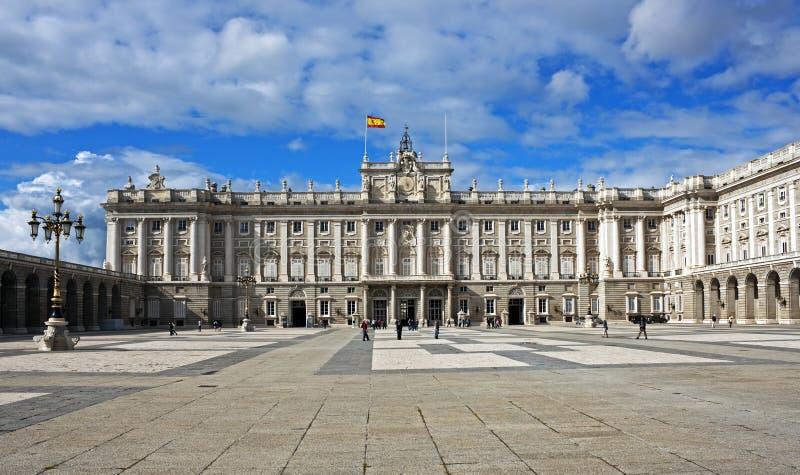 马德里,西班牙王宫 免版税库存图片
