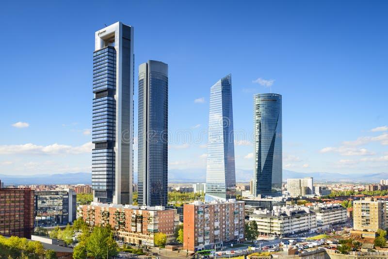 马德里,西班牙财政区 免版税库存图片