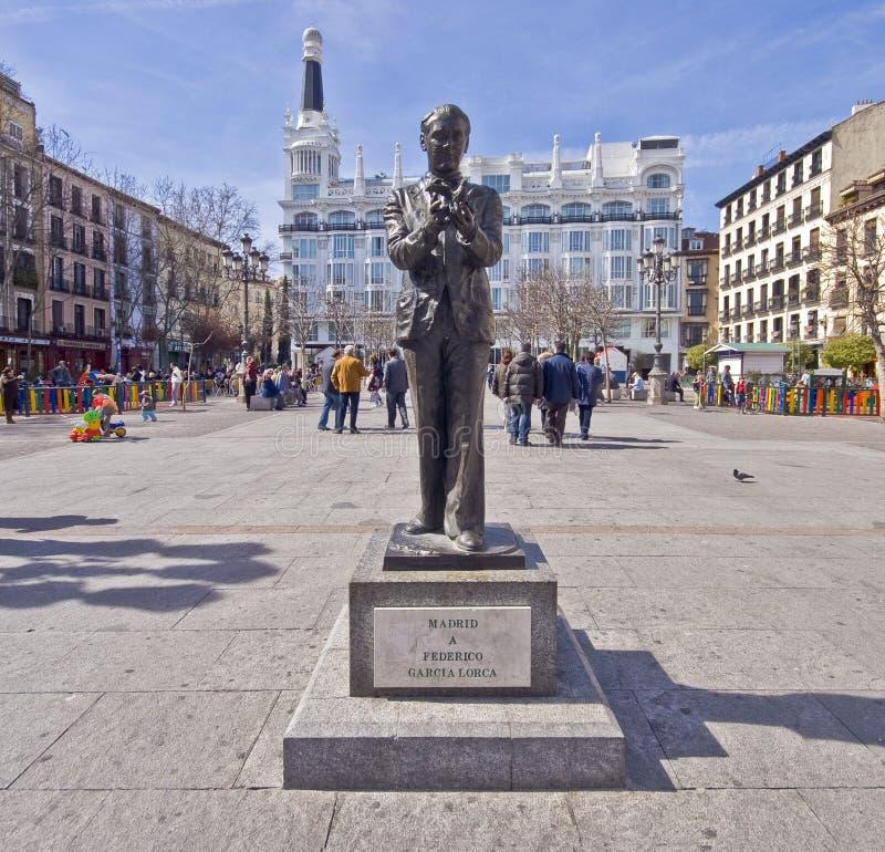马德里,西班牙29 4月2010日 - 广场de圣安娜,马德里 免版税图库摄影