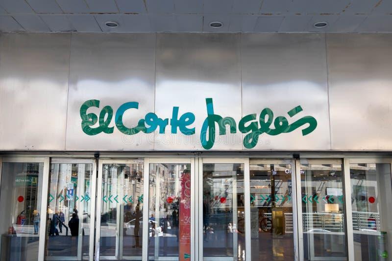马德里/西班牙–03 03 2019年:EL Corte英格尔斯购物中心在马德里 免版税图库摄影