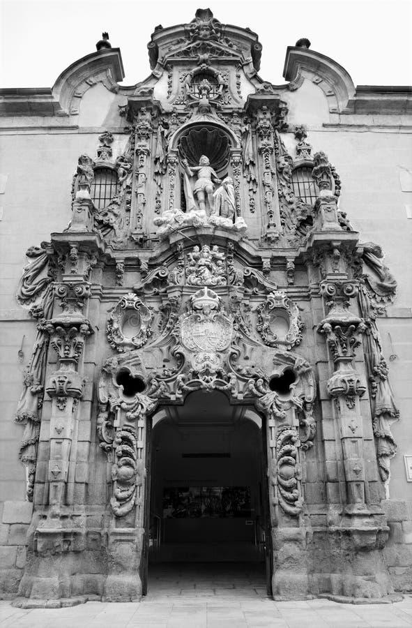 马德里- Museo自治都市巴洛克式的门户  库存图片