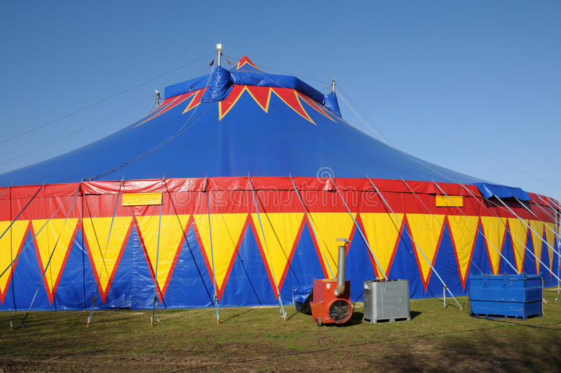 马戏五颜六色的帐篷 库存图片