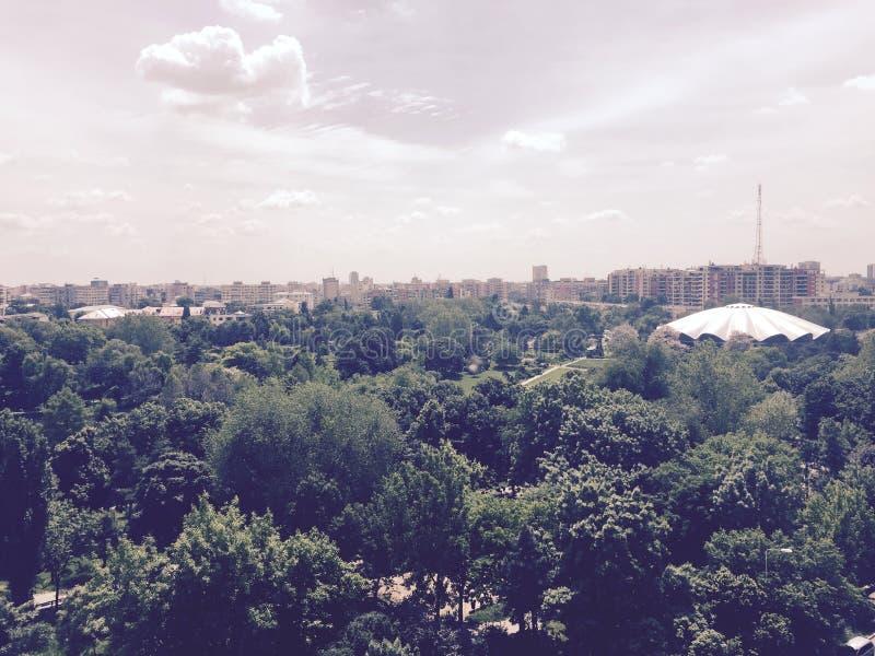 马戏公园从上面 图库摄影