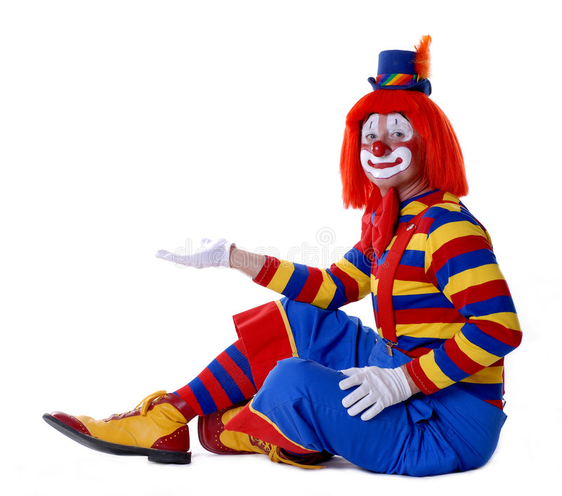 马戏团小丑 库存图片