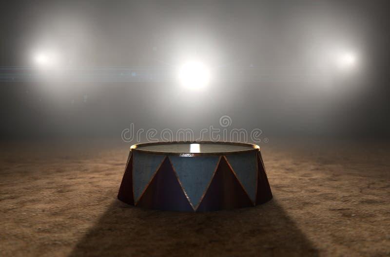 马戏圆环和指挥台 库存照片