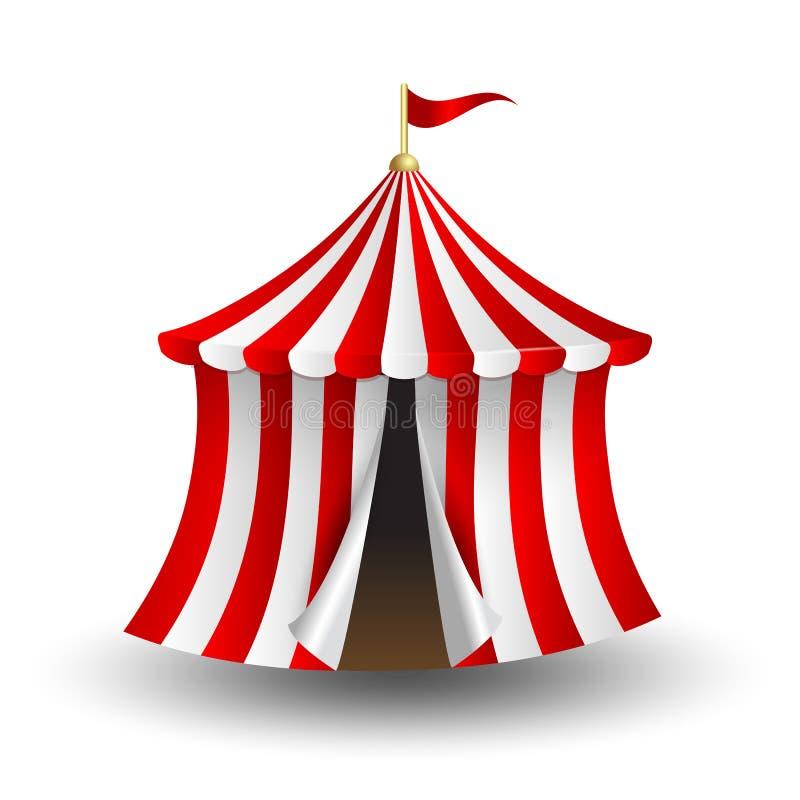 马戏场帐篷的传染媒介例证有旗子的 皇族释放例证
