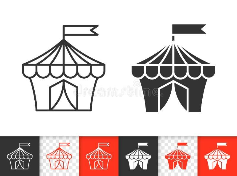 马戏场帐篷简单的黑线传染媒介象 向量例证
