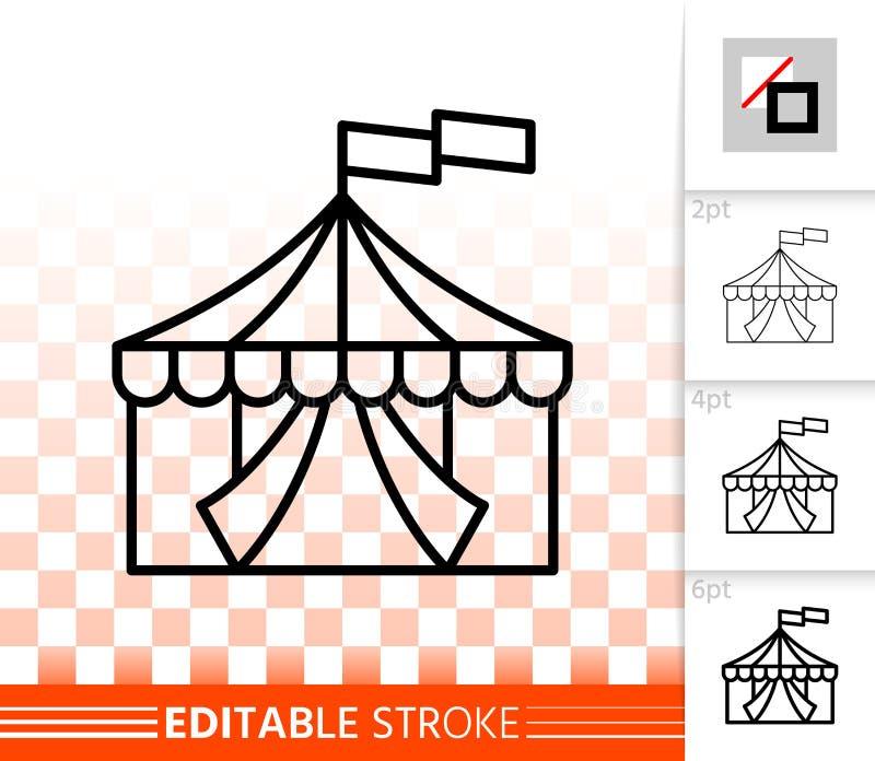 马戏场帐篷简单的黑线传染媒介象 皇族释放例证