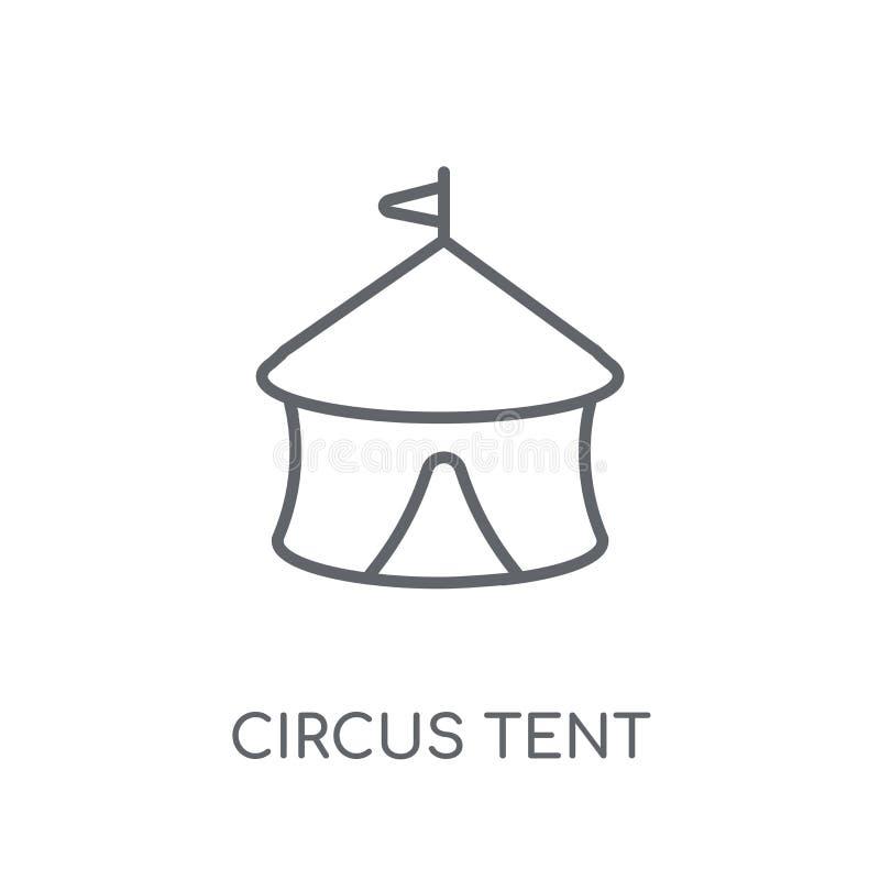 马戏场帐篷线性象 现代概述马戏场帐篷商标概念 皇族释放例证