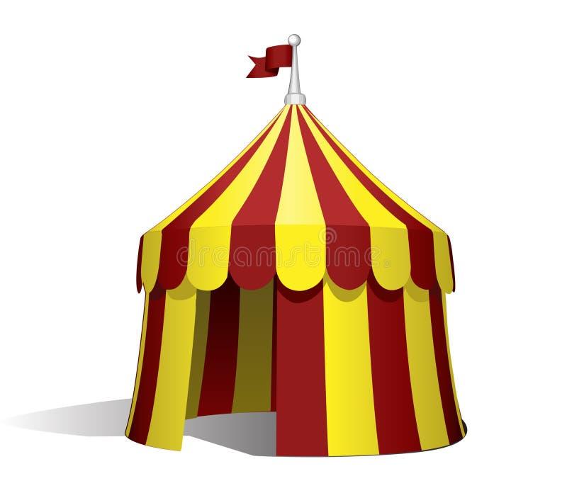 马戏场帐篷 向量例证
